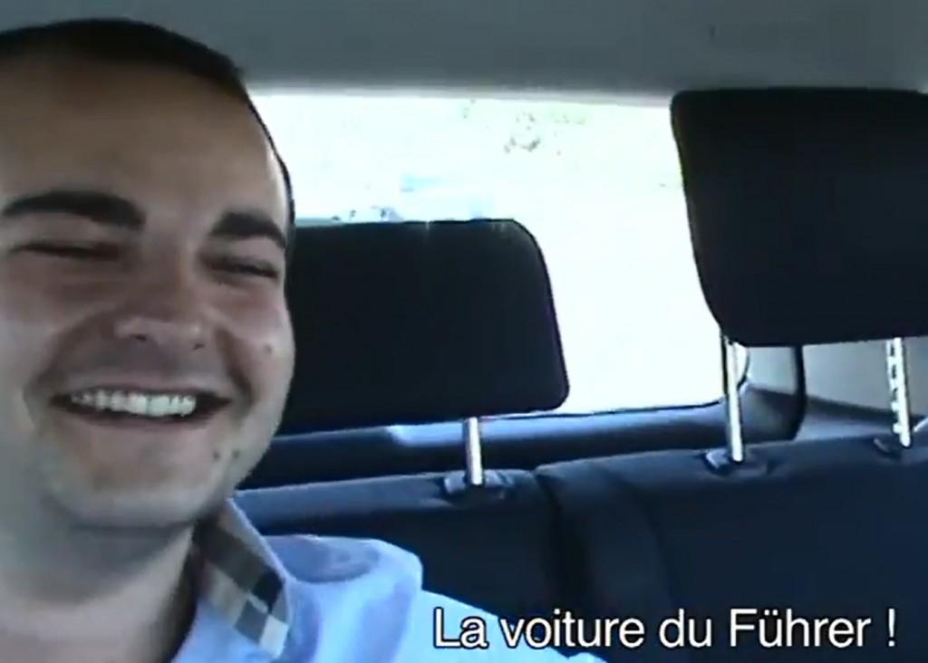 Le jeune maire FN David Rachline se prend pour le führer dans sa Mercedes