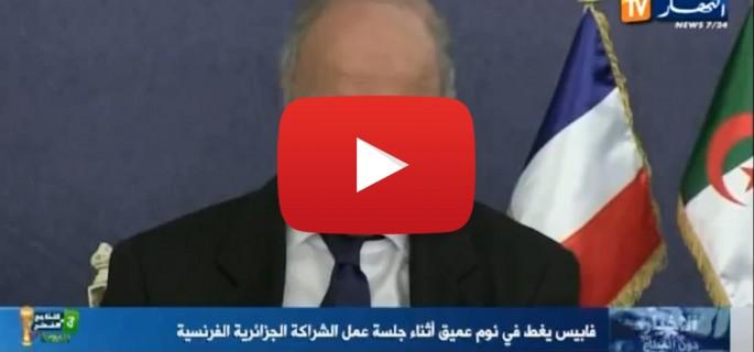 Vidéo: Quand Laurent Fabius s'endort au milieu d'une réunion officielle
