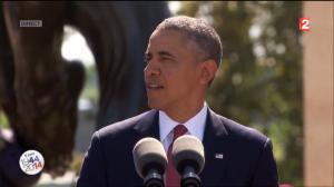 Barack Obama prononçant son discours