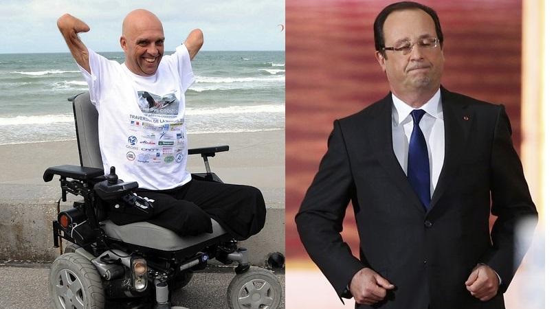 François Hollande n'aimerait pas «les handicapés qui font commerce de leur handicap»