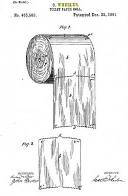 Rouleau de papier toilette 1891