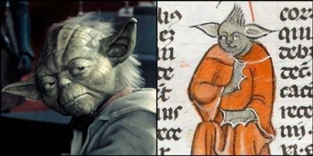 Maitre Yoda retrouvé dans un manuscrit du XIVe siècle