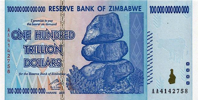 175 mille trilliards de dollars zimbabwéens valent… 5 dollars américains