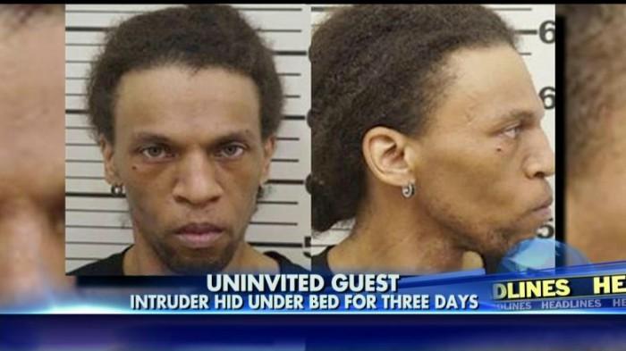 Le cambrioleur reste caché trois jours sous le lit de sa victime