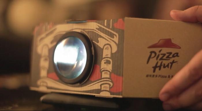 Vous pouvez maintenant transformer les cartons Pizza Hut en rétroprojecteur