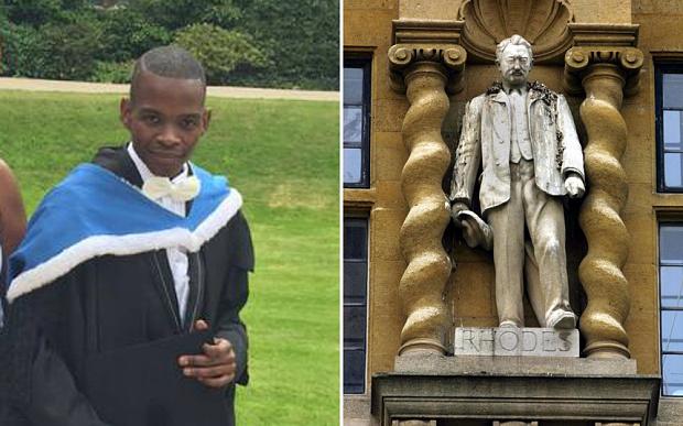 Il veut voir disparaître la statue du colonialiste Rhodes… dont la fondation lui paye ses études