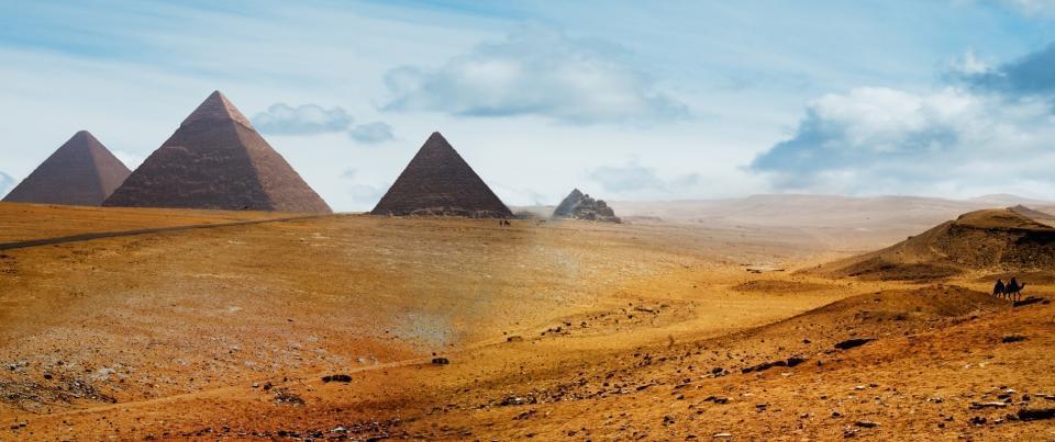 Les pyramides de Gizeh...