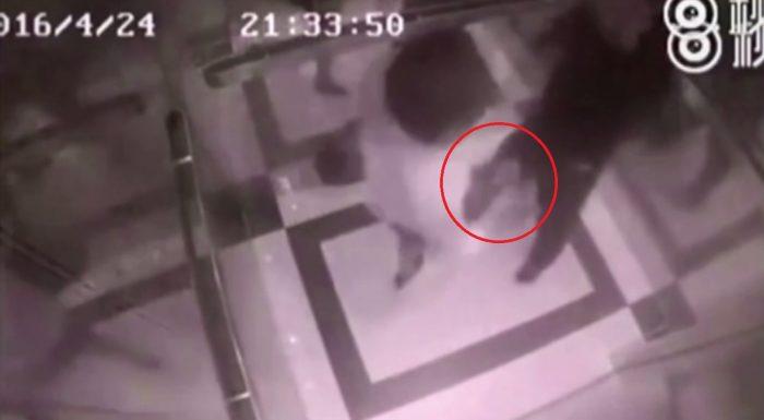 Elle défonce son agresseur dans l'ascenseur