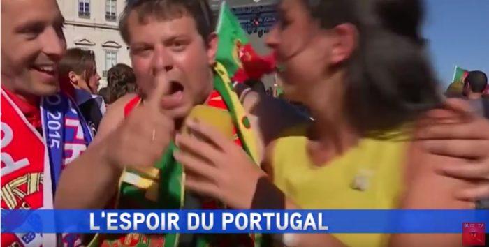 Il se fait passer pour un supporter portugais avant de balancer méchamment sur Valls