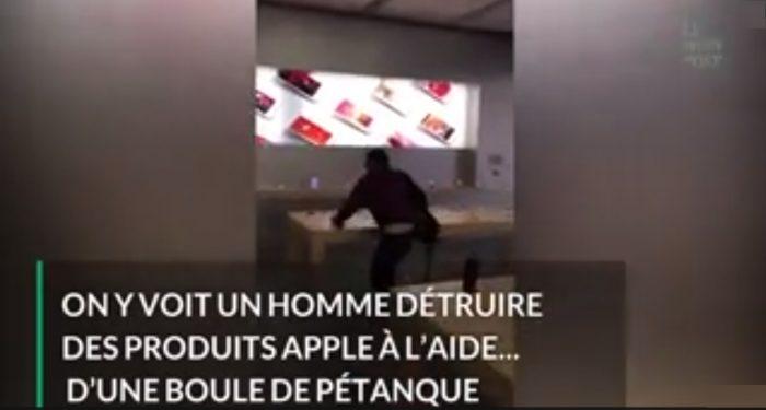 Dijon: Il pète un plomb et saccage l'Apple Store avec une boule de pétanque