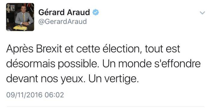 Tweet de Gérard Araud