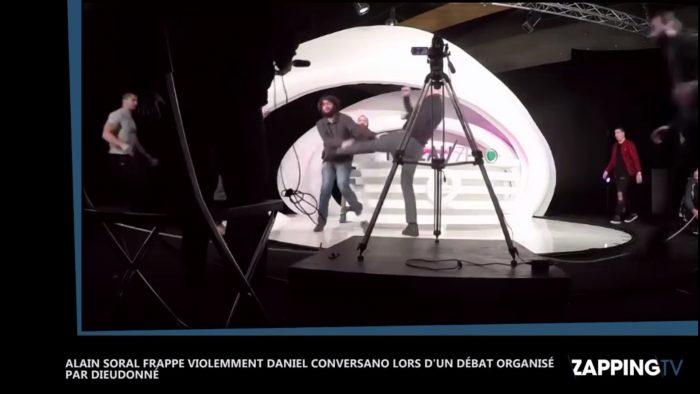 Grosse bagarre entre Alain Soral et Daniel Conversano sur un plateau TV