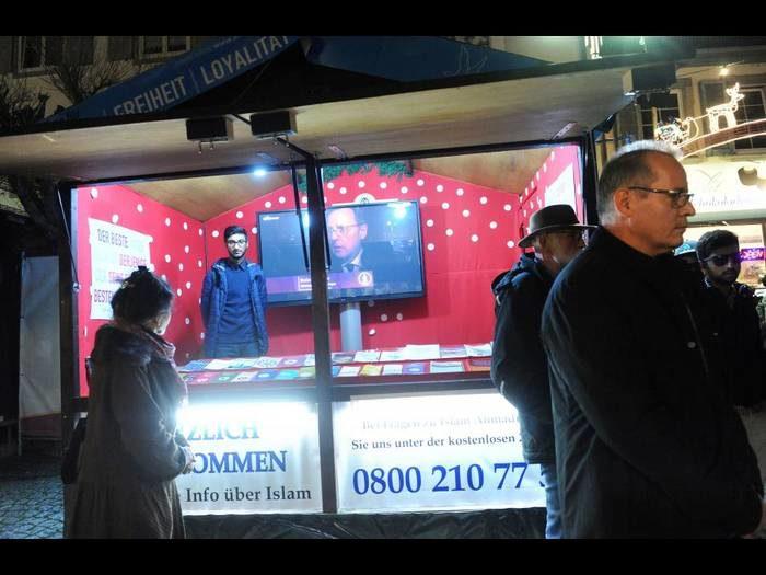 Un stand islamique s'installe au marché de Noël