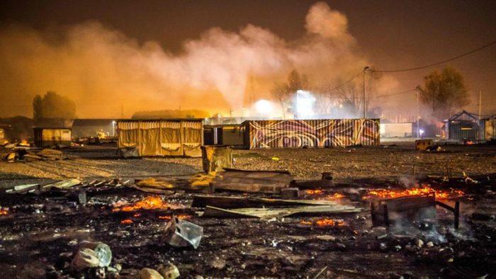 Un camp de migrants de 3,1 M€ incendié après une bagarre entre ethnies