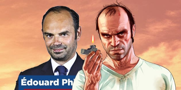 Edouard Philippe est le sosie du psychopathe de GTA 5