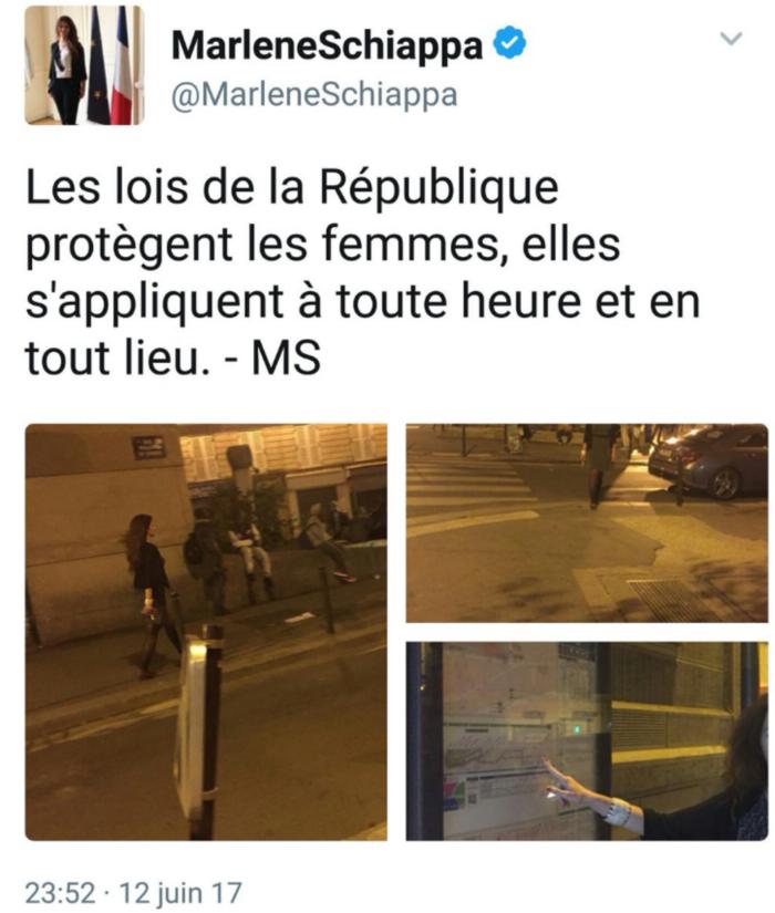 Protégée, Marlène Schiappa estime qu'il n'y a aucun problème pour les femmes à La Chapelle-Pajol