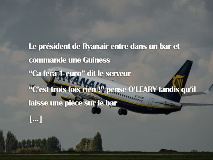 Une simple histoire qui démontre l'arnaque Ryanair
