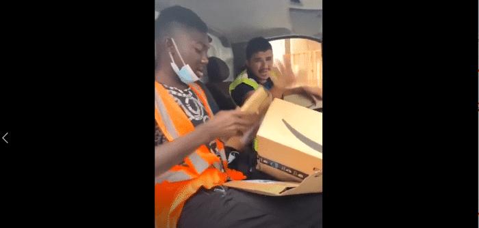 Des livreurs Amazon ouvrent et volent des colis