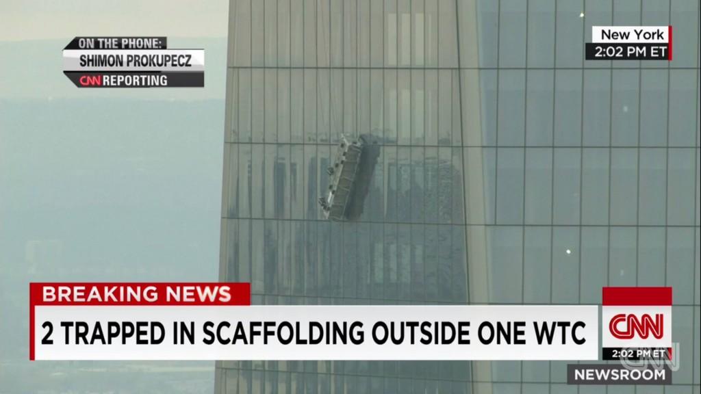 Vidéo: La nacelle de deux laveurs de vitre se renverse au 69e étage du nouveau World Trade Center