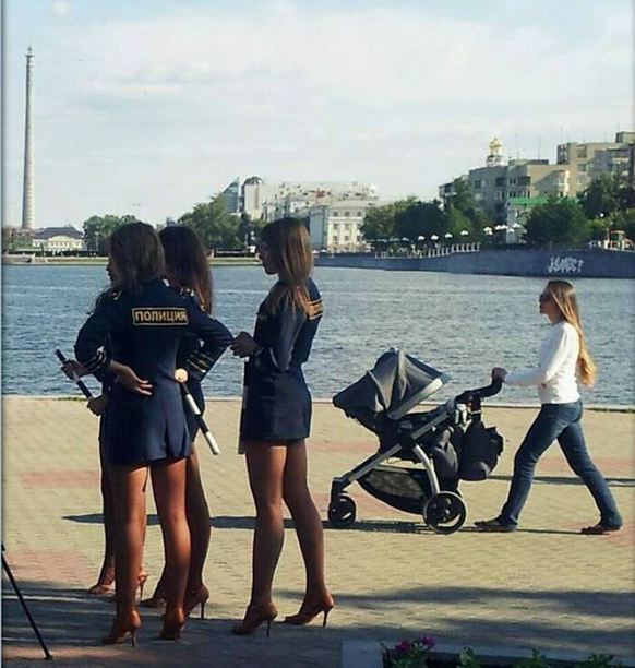 L'uniforme très spécial des policières en Russie