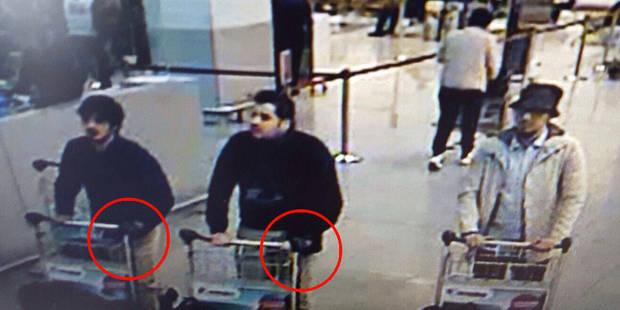 La photo des trois suspects de l'attentat de l'aéroport de Bruxelles