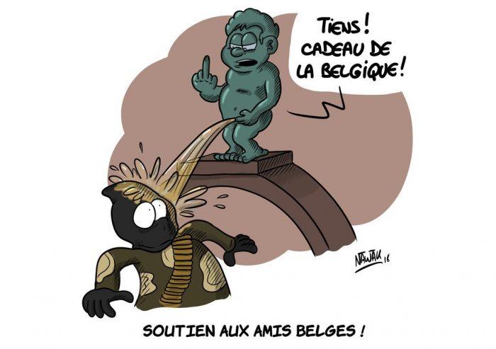 Les caricatures de soutien au peuple belge les plus marquantes