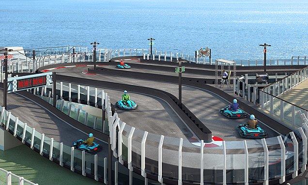 Ce paquebot de croisière embarque une piste de karting !