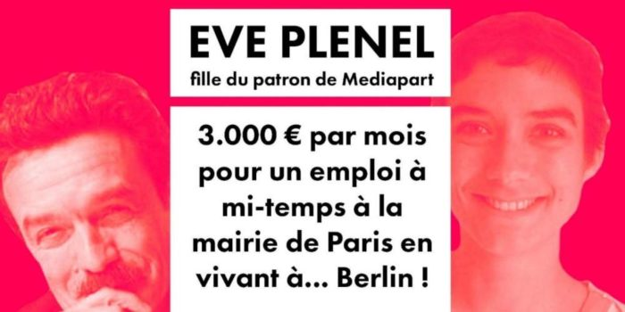 La fille d'Edwy Plenel payée plus de 2000€/mois pour un mi-temps à la mairie de Paris alors qu'elle vit à Berlin