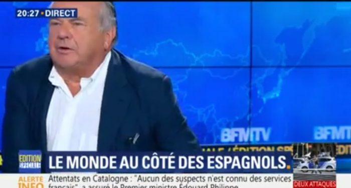 Enervé par le refus des journalistes de parler d'attentat islamiste, Alain Marsaud quitte le plateau