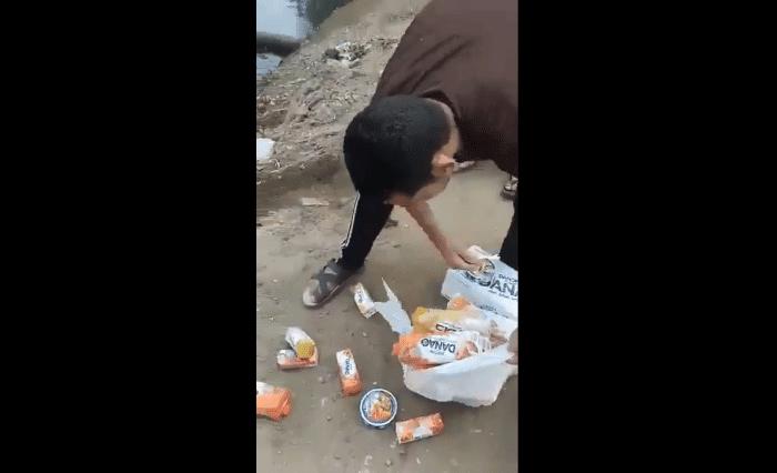 Ils achètent des produits français et les jettent… dans la rivière de leur village.